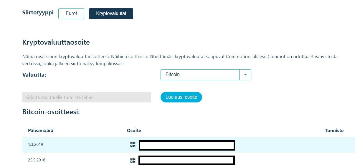 coinmotion bitcoin kotiutus