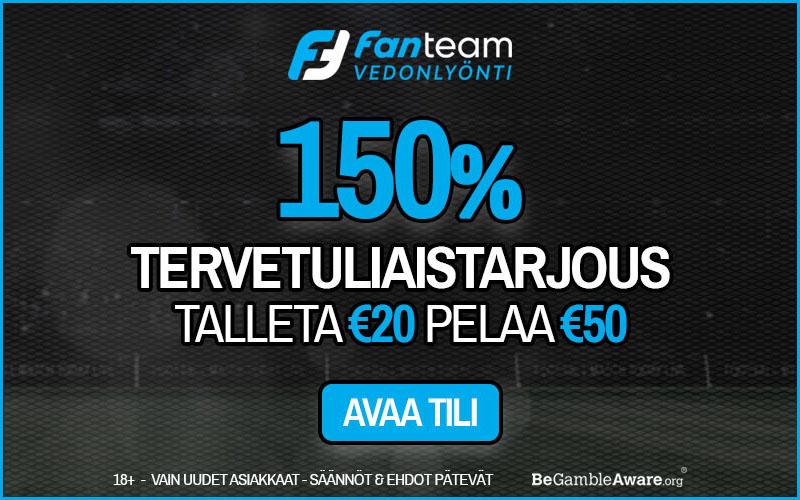 FanTeam Vedonlyönti 150% bonus